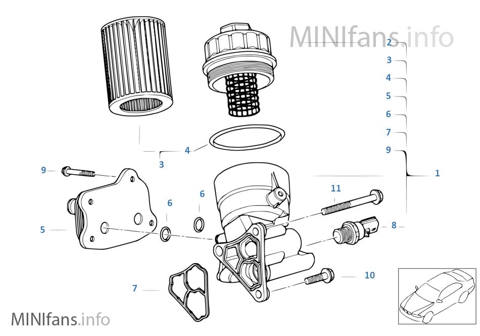 Lubricat Syst Oil Filterheat Exchanger