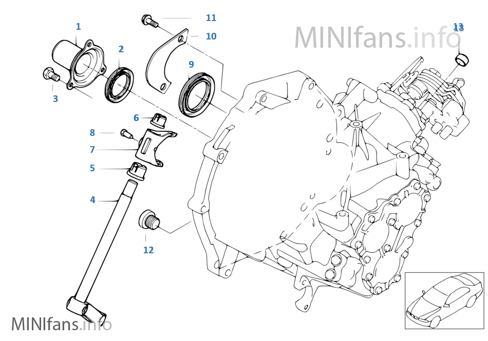 Gs6 85bg Gearbox Components Mini Mini R50 One D W17 Europe
