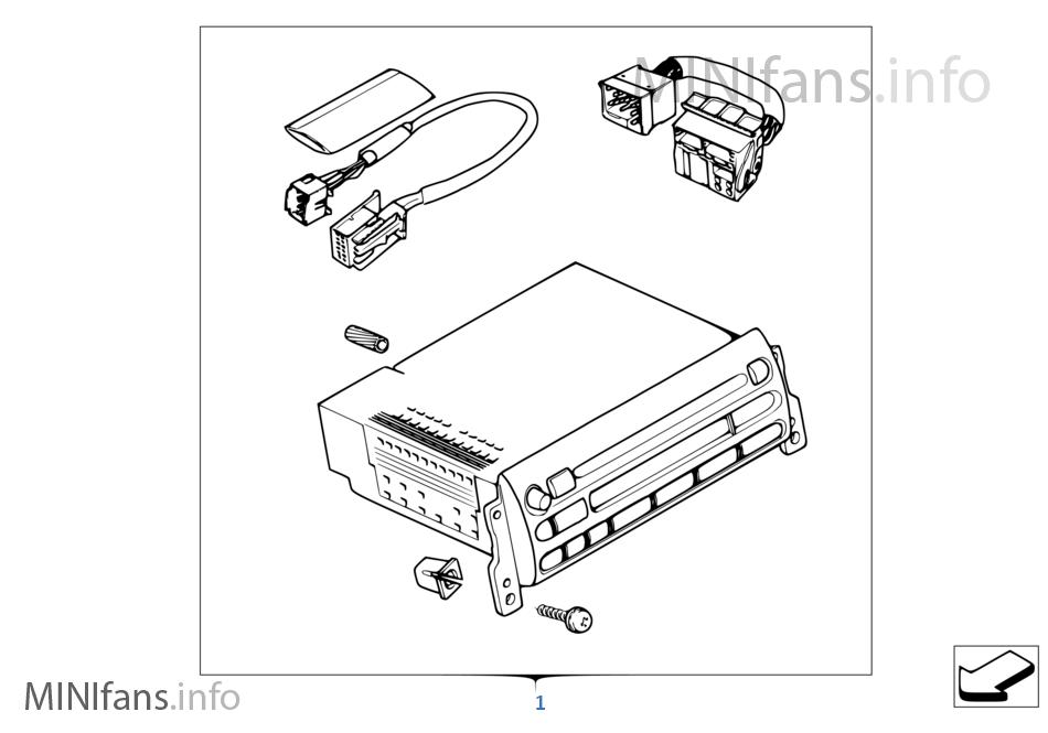 Conversion Kit Boost To Boost Cd Radio Mini Mini R50 One D W17 Europe