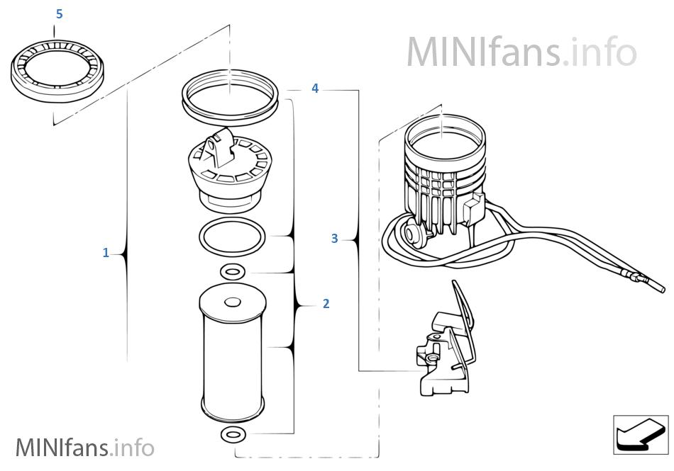 Топливный фильтр/датчик уровня наполн.П