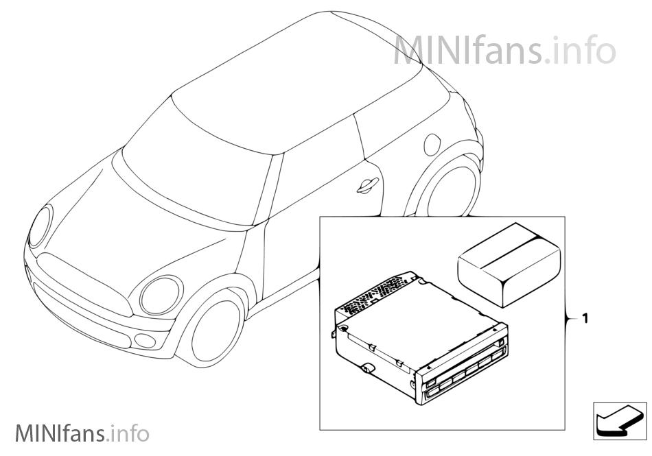 Nachrüstsatz Cdc Für Fzg Mit Speg High Mini Mini Clubman R55