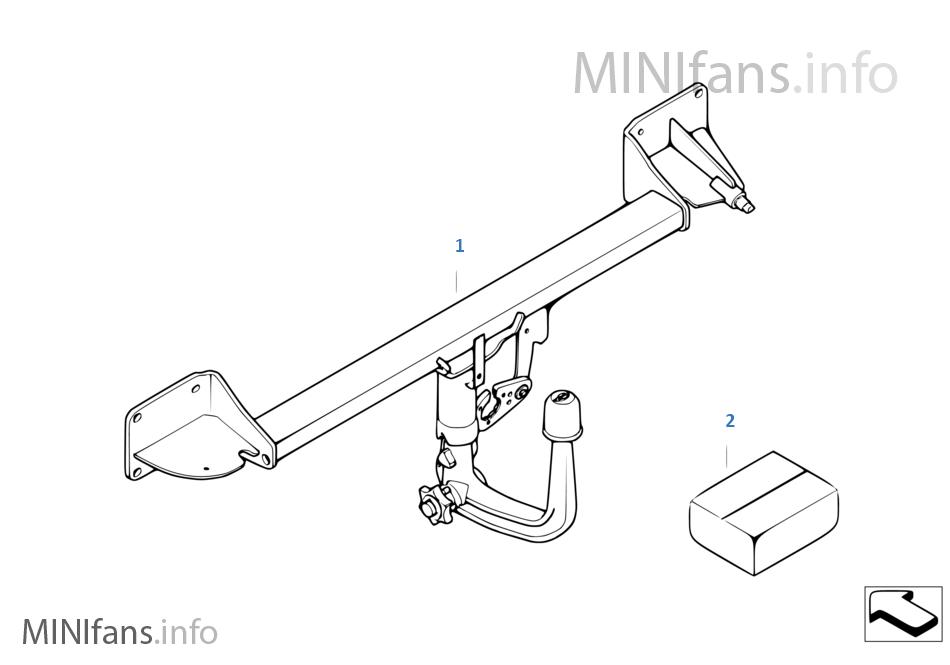 Nachrüstsatz Anhängerkupplung Abnehmb Mini Mini Clubman R55