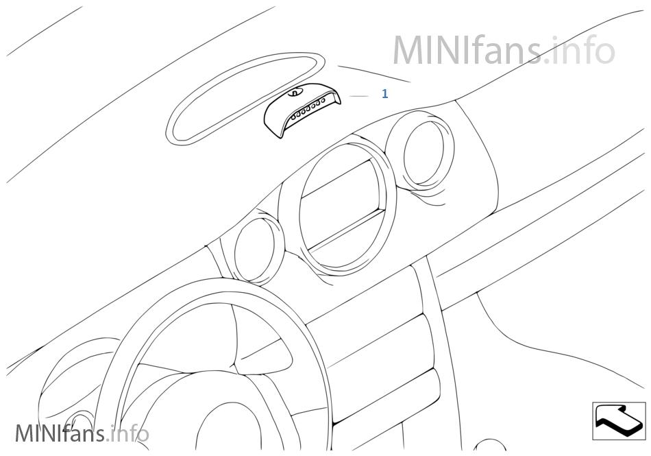 Retrofit kit for gear shift indicator | Mini MINI R53 Cooper