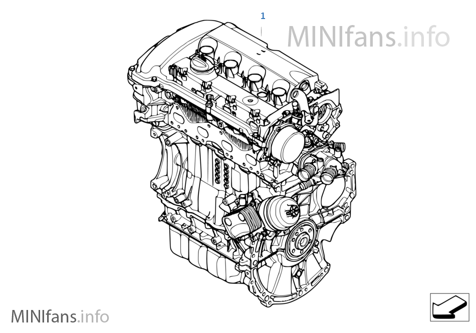 Short Engine | Mini MINI R56 Cooper S N14 EuropeMINIfans.info