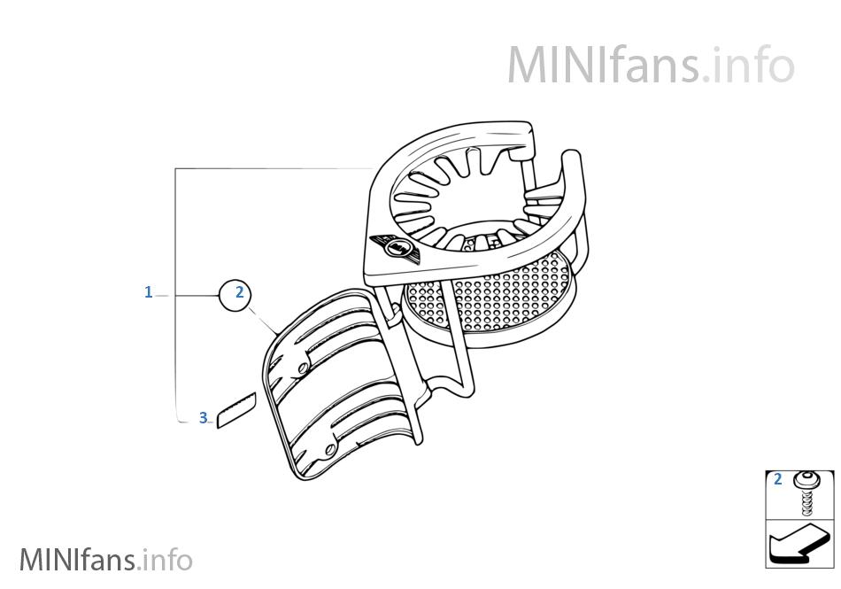 Mini Cooper 51-16-0-397-287 CUP HOLDER