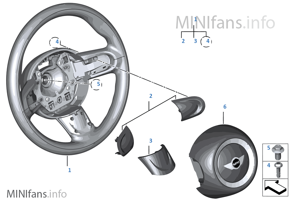 Спортивное рулевое колесо с НПБ