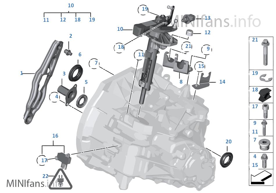 Elem. poj. skrzyni biegów GS6-53BG/DG