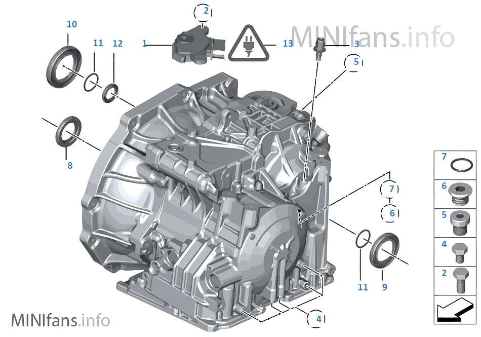 GA6F21WA - Дополн.элементы/уплотнители