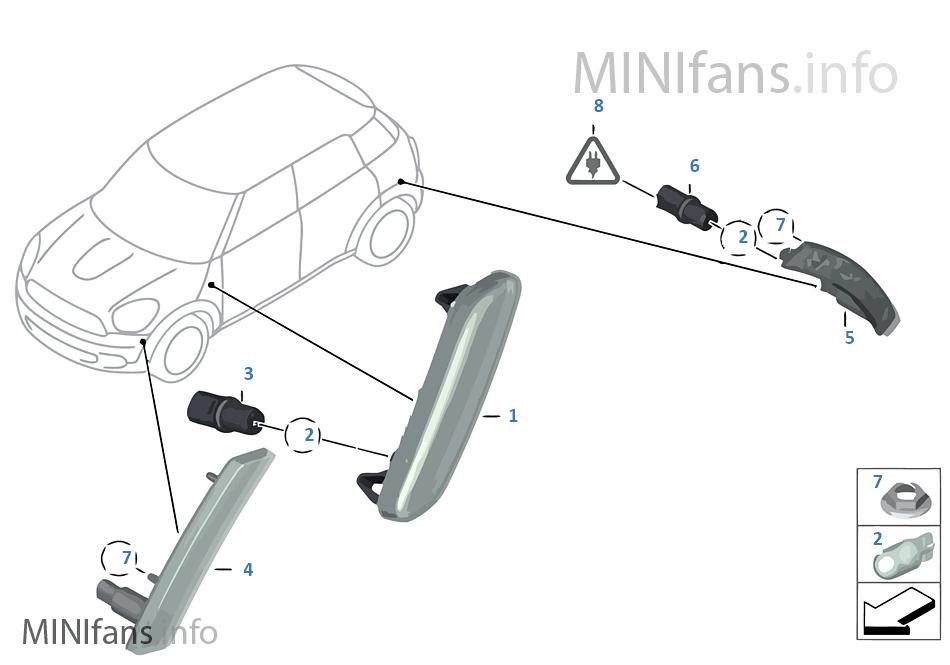 Luz intermitente delantera/lateral