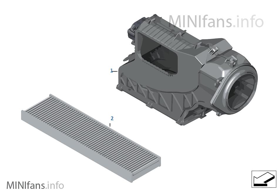 Mikrofiltr/Części obudowy