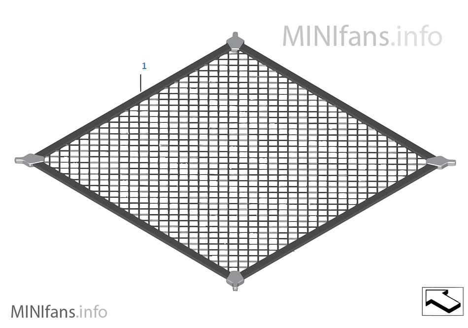 Boottrunk Floor Net Mini Mini Clubman F54 Cooper S B48 Europe