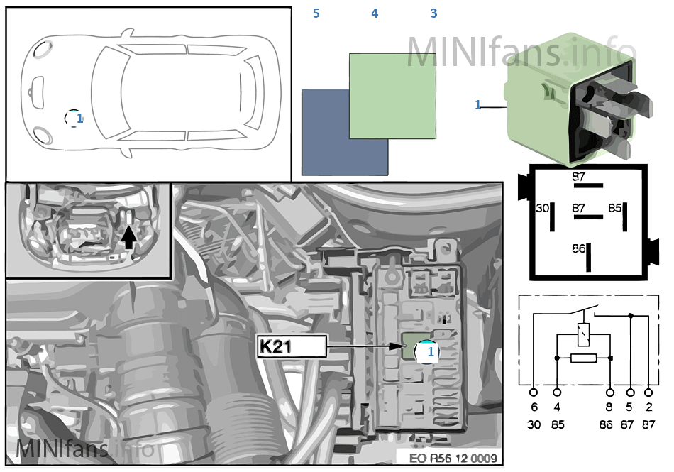 Реле электровентилятора K21