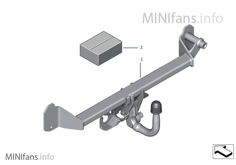 Kit Post équipt Attelage Remorque Amovi Mini Mini Clubman F54