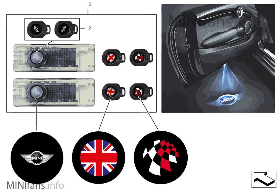 Дверной светодиодный проектор