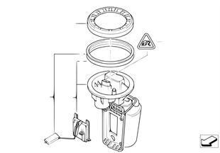 Palivové čerpadlo / snímač výšky hladiny