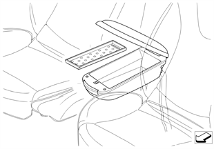 Center armrest with storage tray