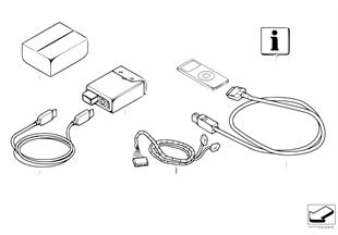 Zest. dopos. - złącze USB-/iPOD