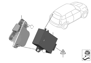Control unit, mirror folding
