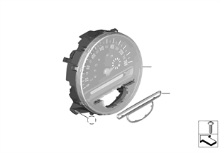 Snelheidsmeter instrumentenpaneel