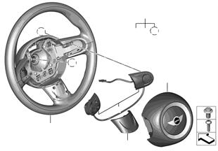 Volante deportivo con Airbag multifunc.