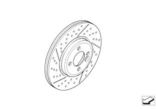 Vorderradbremse-Bremsscheibe gelocht