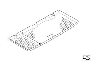 Retrofit, form-fitting trunk mat