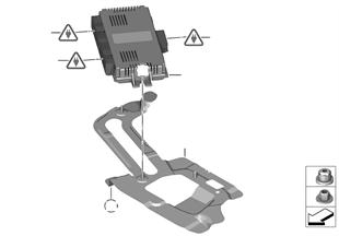 ЭБУ модуля в пространстве для ног