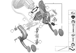 Mcsmo. pedal con muelle de recuperación