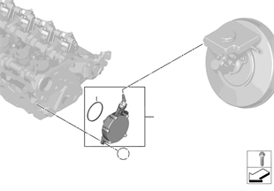 Pompa próżniowa z prowadzeniem przewodu