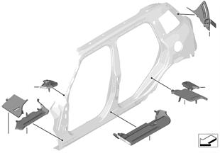 Apantallado p cavidad, marco lateral