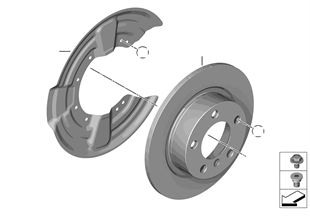 Travão traseiro/disco do travão