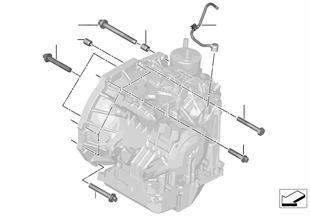 Fissaggio del cambio / ventilazione