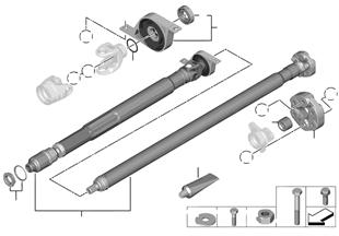 Drive shaft, single components