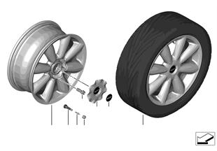 MINI LM-velg Turbo Fan 126
