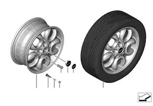 Л/с диск MINI 5-Hole Circular Spoke 123
