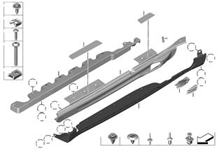 Listwa progowa JCW pakietu aerodynam.