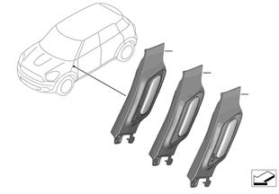 Retrofit, trim for side turn signal