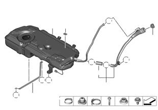 Depósito combustible/piezas de sujeción
