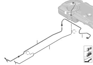 Tuberia d.combustib.y piezas de fijación