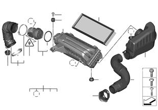 Σιγαστήρ.θορύβ.αναρρόφ./στοιχ.φίλτρ./HFM