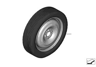 Juego rueda de repuesto con neumático