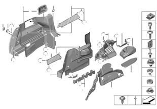 Επένδυση χώρος αποσκευών πλευρικά