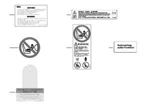 Placa indicadora de airbag