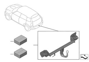 Retrofit kit trailer coupling detachable