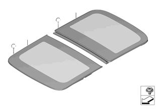 Πανοραμική οροφή γυάλινο κάλυμμα