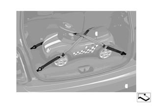 Gepäckraum-Klemmgurte
