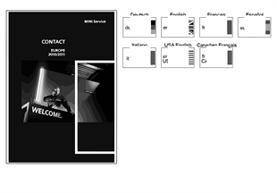 Brochure Service Contact Mini