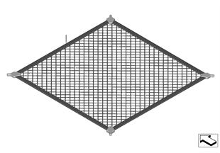 Gepäckraumbodennetz