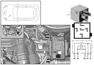 Реле обогр.вент.картера двигателя K6539