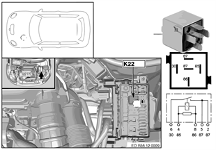 Реле электровентилятора 2 двигатель K22